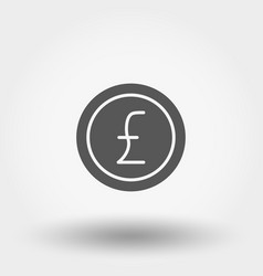 money sign coin pound vector image vector image