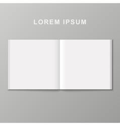 Open book template vector image