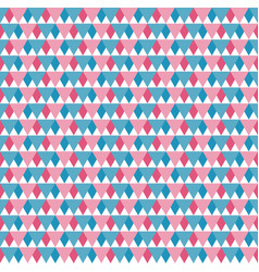 seamless pattern blue red and white triangles vector image