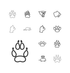 13 cat icons vector