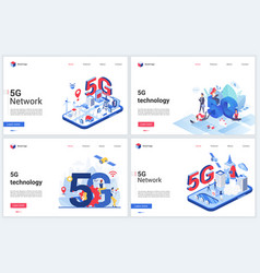 5g telecom network wireless technology vector