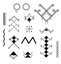 a set berber tattoos vector image
