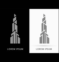 Abstract building construction high tower graphic vector