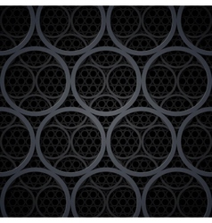 Abstract dark grey metal circles background vector