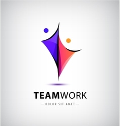 Abstract stylized family 2 team lead vector