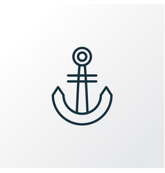 anchor icon line symbol premium quality isolated vector image