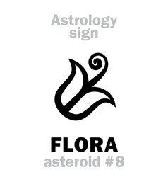 Astrology asteroid flora vector
