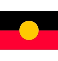 Australian Aboriginal flag in correct size color vector