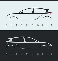 automotive car logo design black and grey sports vector image