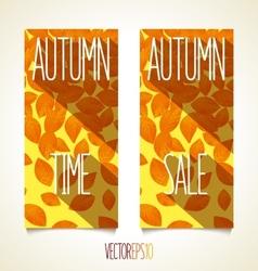 Autumn flat sunny banner vector