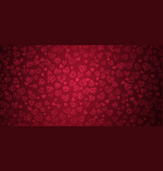 background big and small hearts vector image