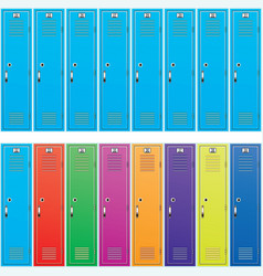 Background of colorful school lockers vector