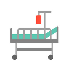 Bed and blood bag medical and hospital related vector