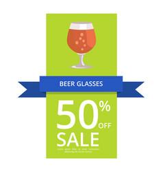 Beer glasses 50 off sale vector