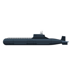 Black submarine military army fighting warship vector