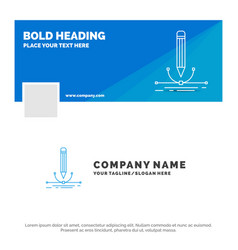 blue business logo template for design pen vector image