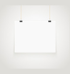 Bright frame on the wall photoreal picture frame vector