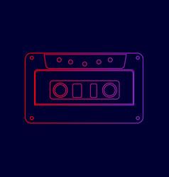 cassette icon audio tape sign line icon vector image