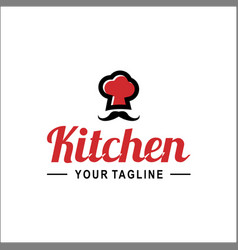 chef hat with chef word logo template vector image