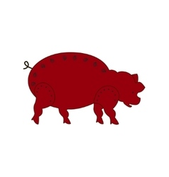 Chinese zodiac symbol red pig vector image