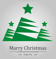 christmas background fir and the words holiday vector image