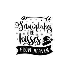 Christmas lettering quote silhouette calligraphy vector