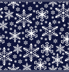 christmas pattern seamless with snowflakes vector image