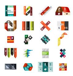 Collection of colorful line and stripe infographic vector
