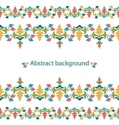 decorative ribbon Seamless strip vector image