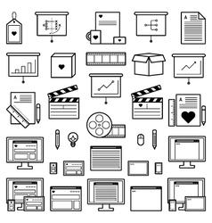 Designer Website Icons vector image