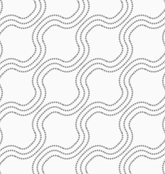 Dotted diagonal bulging waves vector