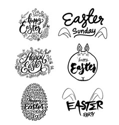 easter art set vector image