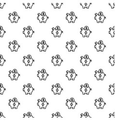 economy save piggy bank pattern seamless vector image