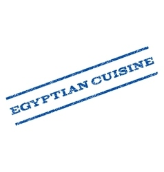 Egyptian Cuisine Watermark Stamp vector