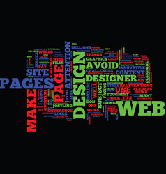 Essential tips for a web designer text background vector