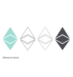 ethereum classic chrystal set vector image