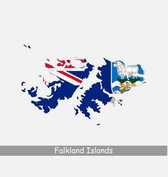 Falkland islands map flag vector