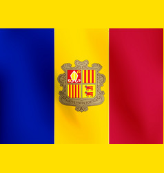 flag of andorra - vector image