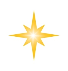 Gold star icon night design graphic vector