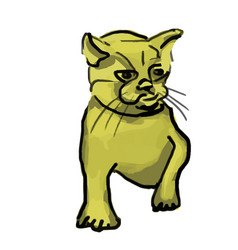 Hand drawn cute cat isolated vector