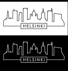 helsinki skyline linear style editable file vector image