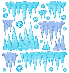 Icicle theme image 1 vector