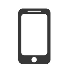 icon design of black modern touchscreen phone vector image