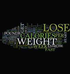 Lose weight fast watch out it will come back to vector