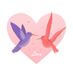 lovers of hummingbirds concept vector image