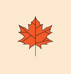 maple leaf icon autumn season concept vector image