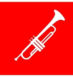 Musical instrument Trumpet sign vector image
