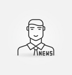 news anchor or reporter man concept outline vector image