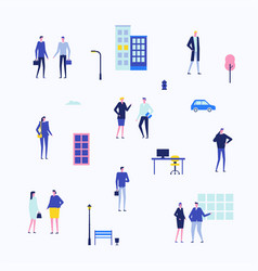 office life - flat design style set of isolated vector image