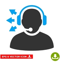 Operator Answer Speech Eps Icon vector